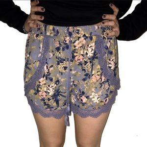 Xhilaration flowery shorts